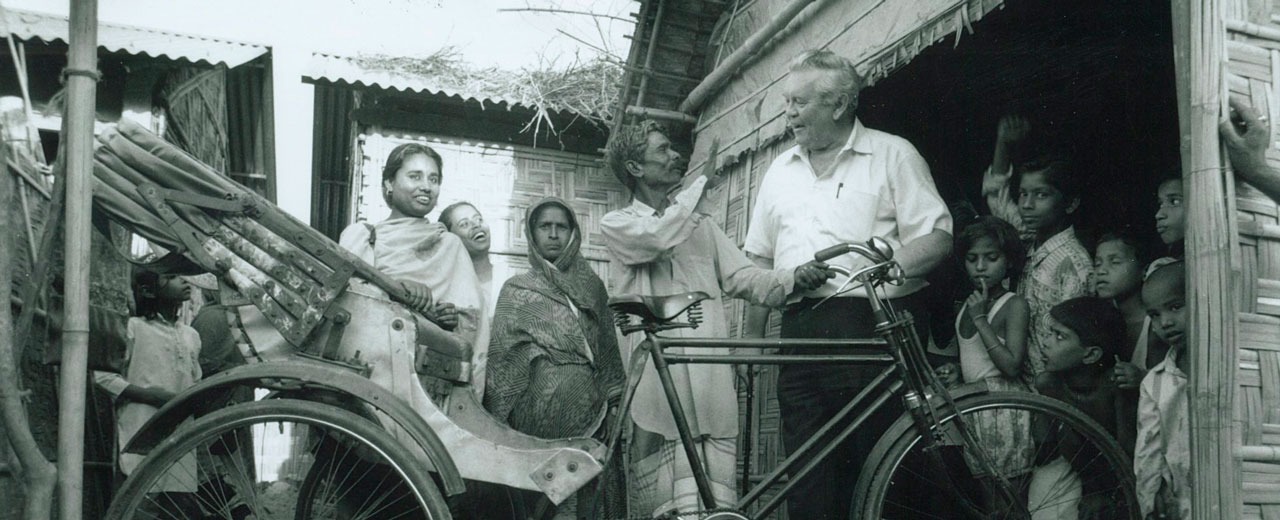 Father Aengus Finucane in Bangladesh, 1972.