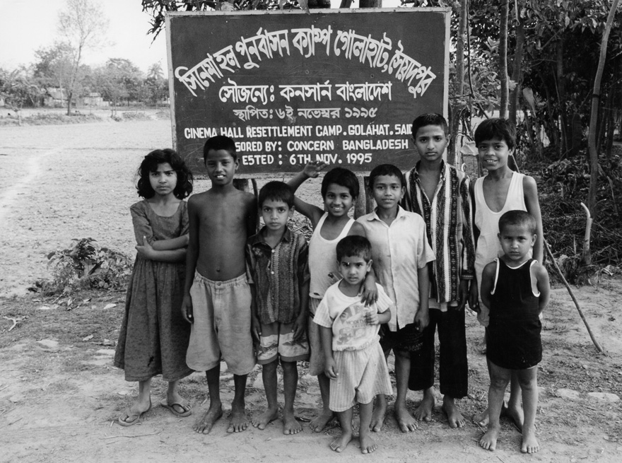 A children's group in Bangladesh. 1995.