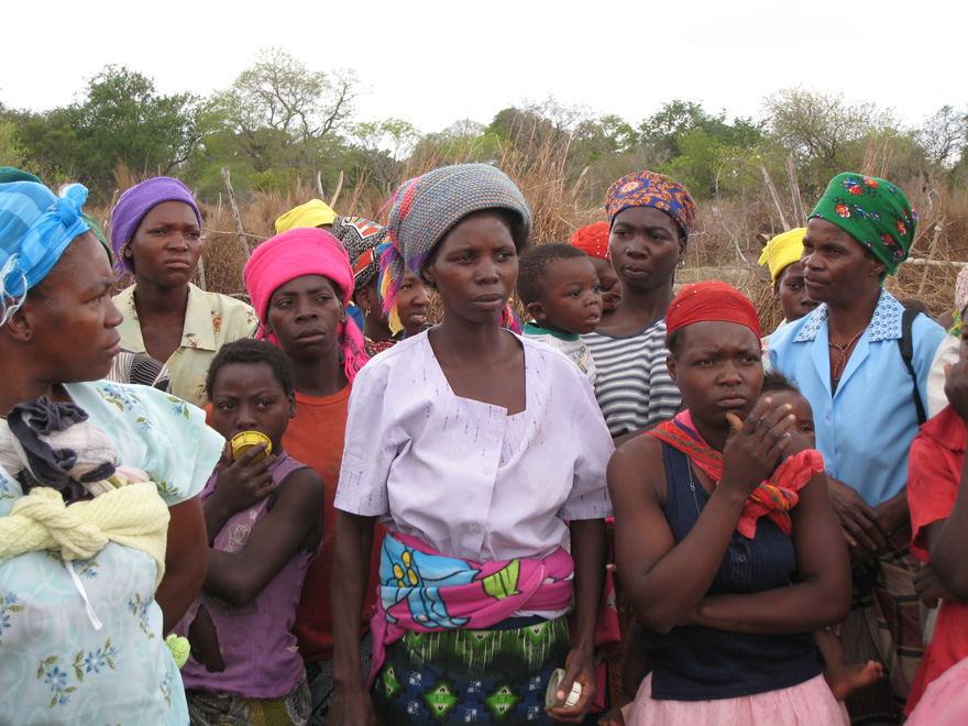 Community members in Chipopopo, Mozambique.