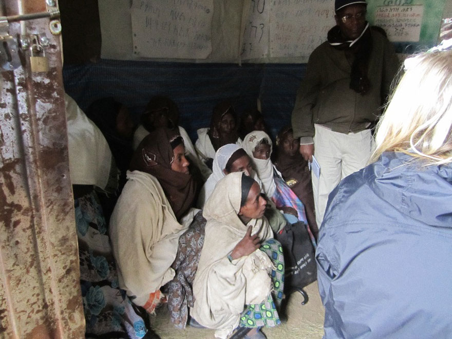 A women's empowerment group gathers in Ethiopia.