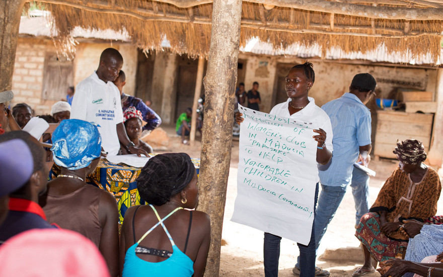 Community conversations at Madusia community, Sierra Leone