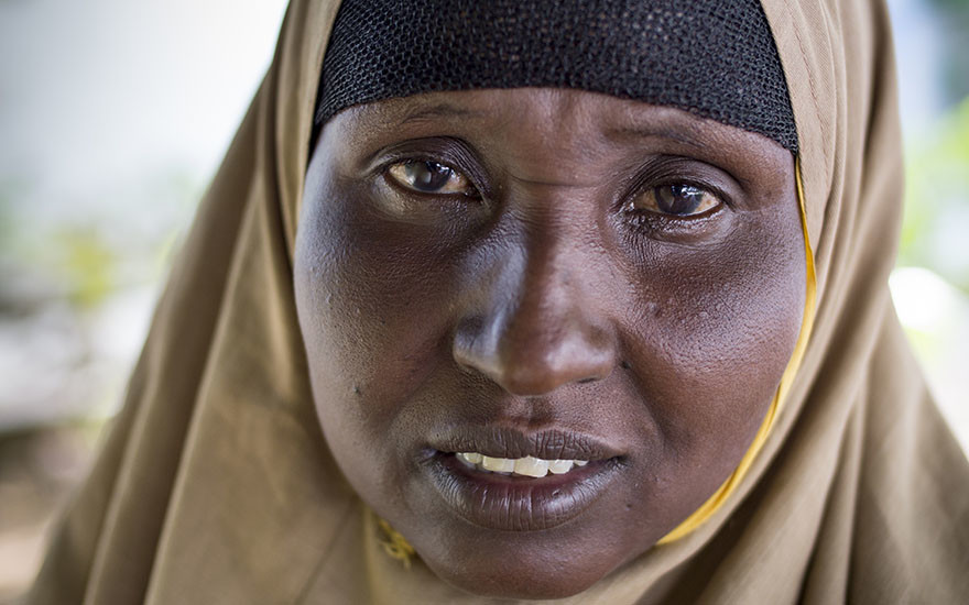 Shukri Sheikh Ali and her family have been displaced from their home in Somalia for the second time.