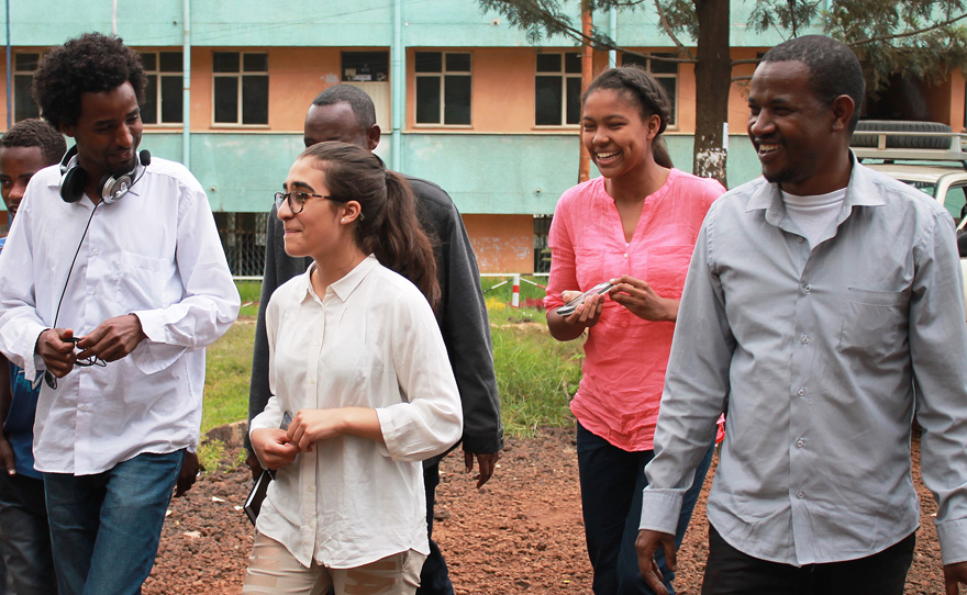 GCC students during a summer field visit to Ethiopia, 2015