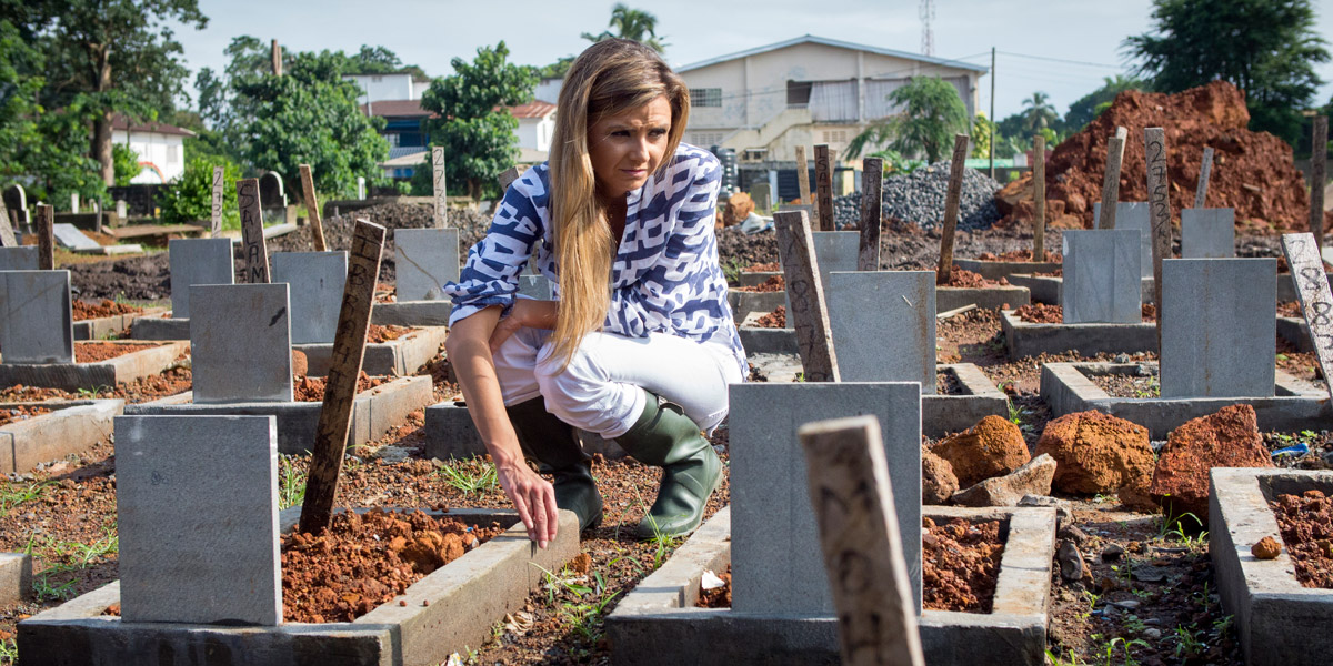 Megan Chistensen at Kingtom cemetery in Freetown
