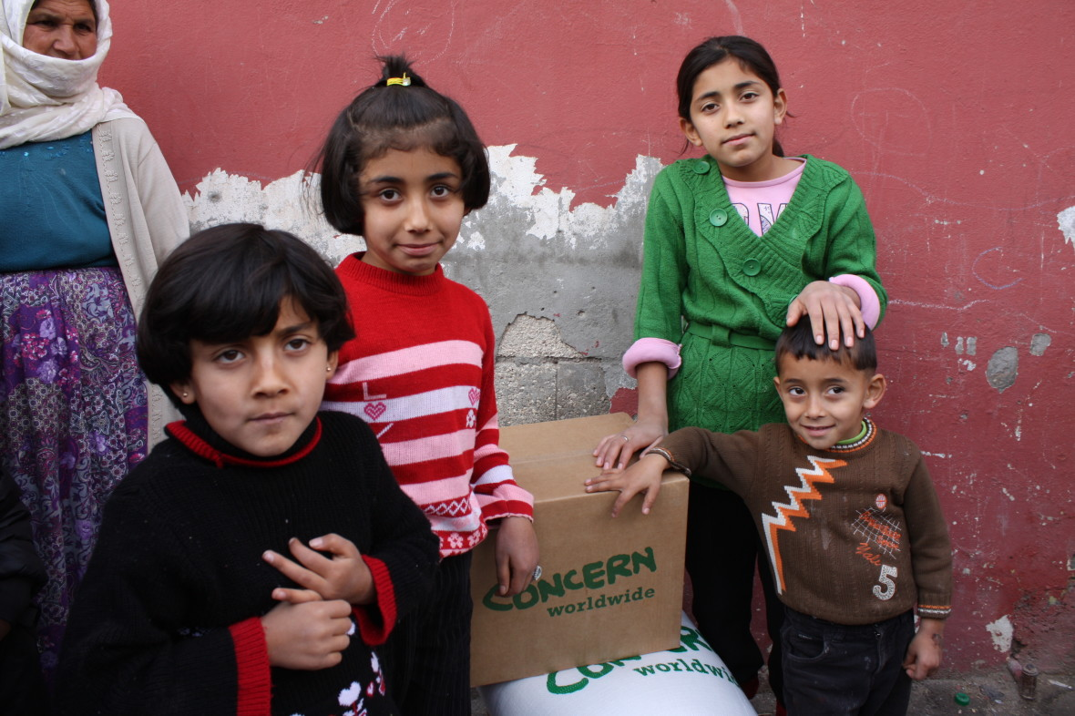In Turkey, Concern is distributing food and other aid items to Syrian refugees.