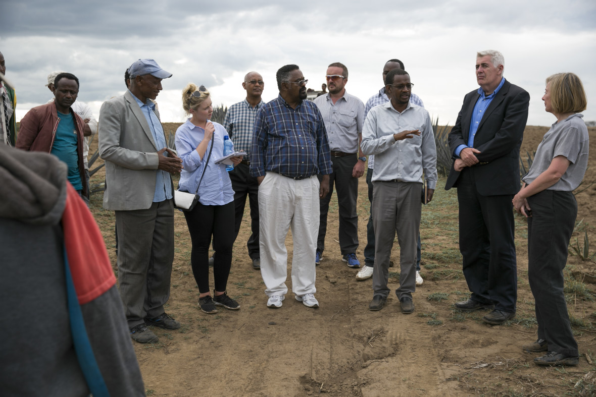 Concern Worldwide CEO, Dominic MacSorley, visiting drought affected areas of Ethiopia.