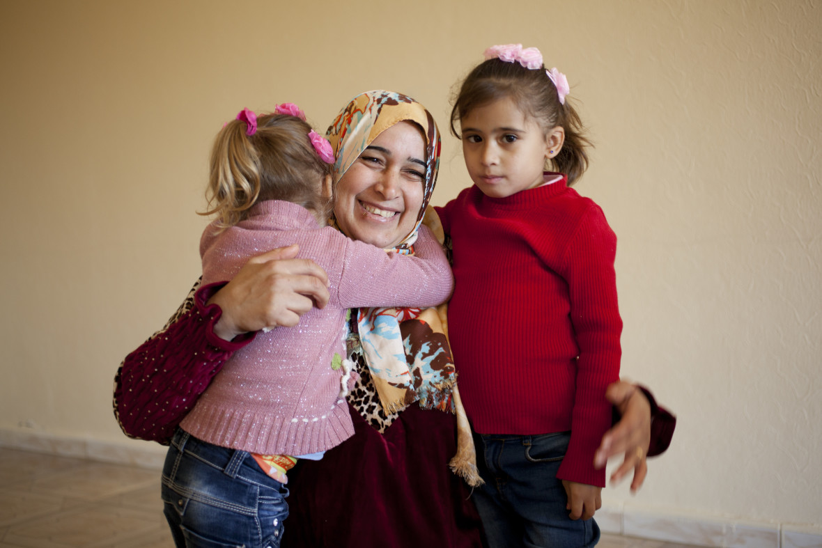 Yana, a 37-year-old refugee from Syria, and her two daughters