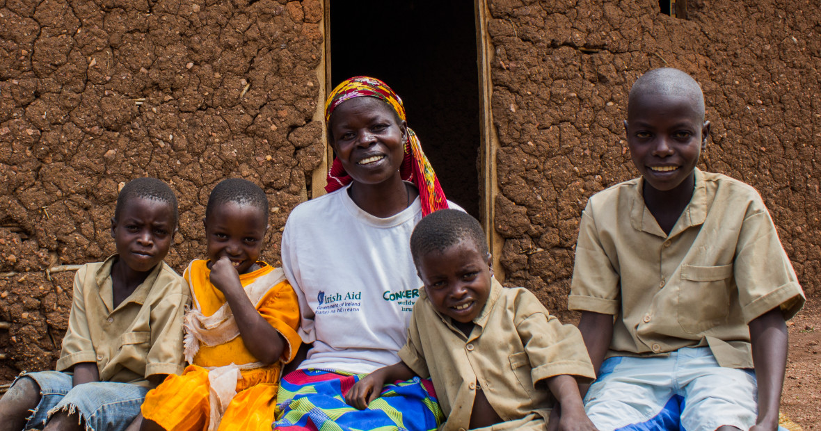 Beatrice Mukandagano, a widow and mother of four, is a beneficiary of Concern's Graduation program in Kirundo province, Burundi.