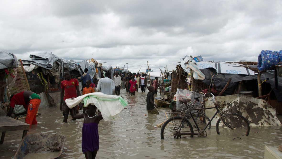 Flooding at the Bentiu base in South Sudan