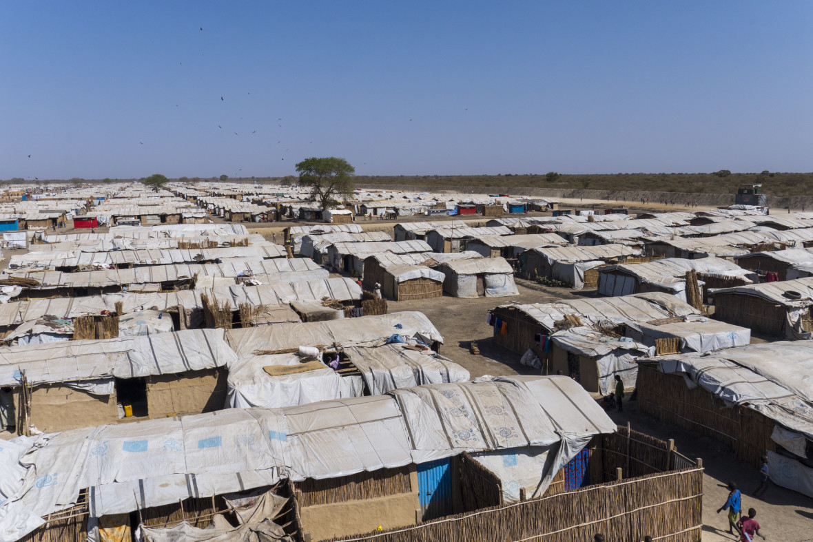 Robust emergency shelters at Bentiu Protection of Civilian (POC) site