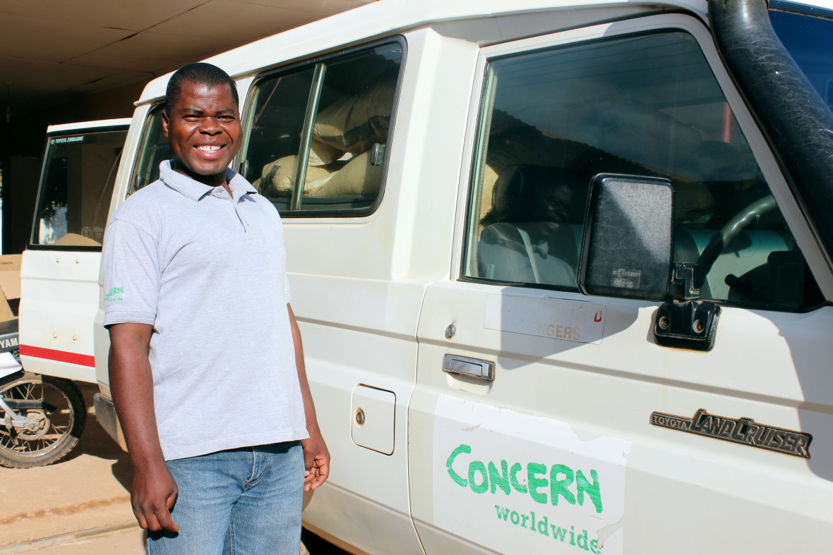 Peter Nyirenda, a driver on Concern's RELIEF project