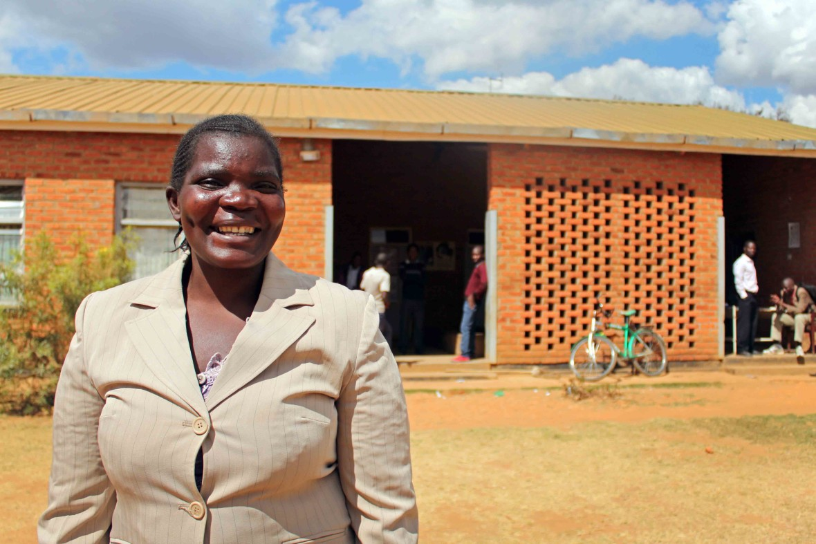Ireen Chinglanda, from Malawi, who teaches other mothers about nutrition to fight hunger