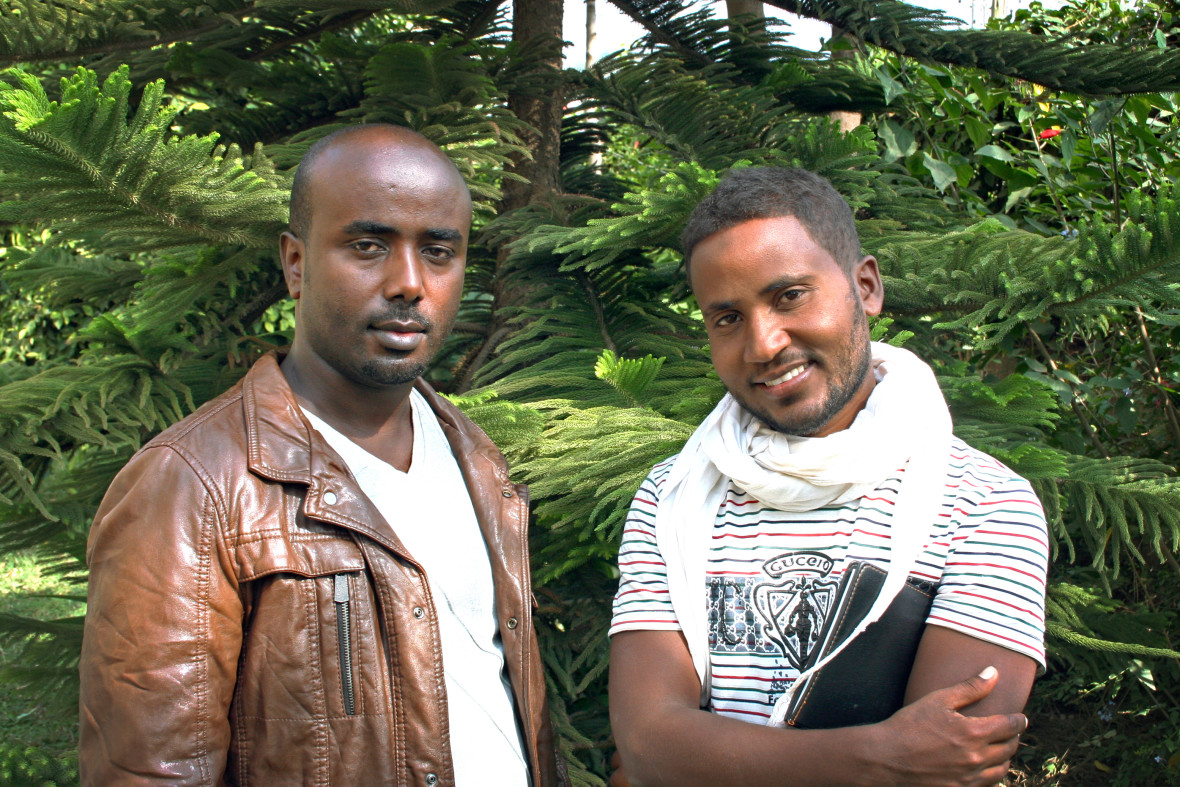 Endris Haile, the Vice Head of the Argoba Agricultural Office, and his colleague Seid Ahmed