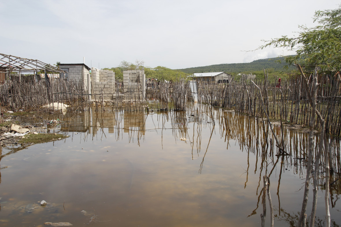 The remote area of Latanye on the island of La Gonâve was completely flooded after Hurricane Matthew.