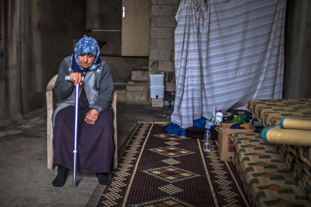 """Iman"" is a Syrian refugee who is living in a garage"
