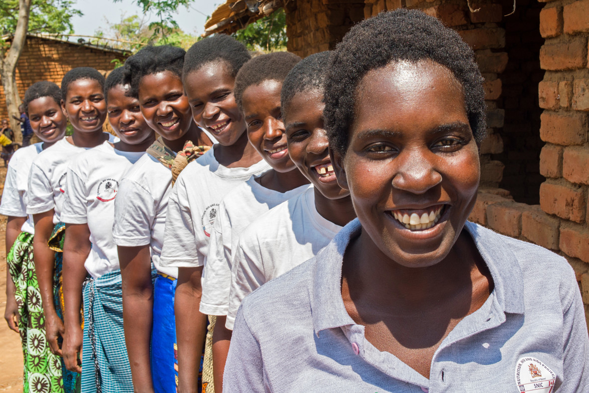 Lead mothers lined up in Malawi