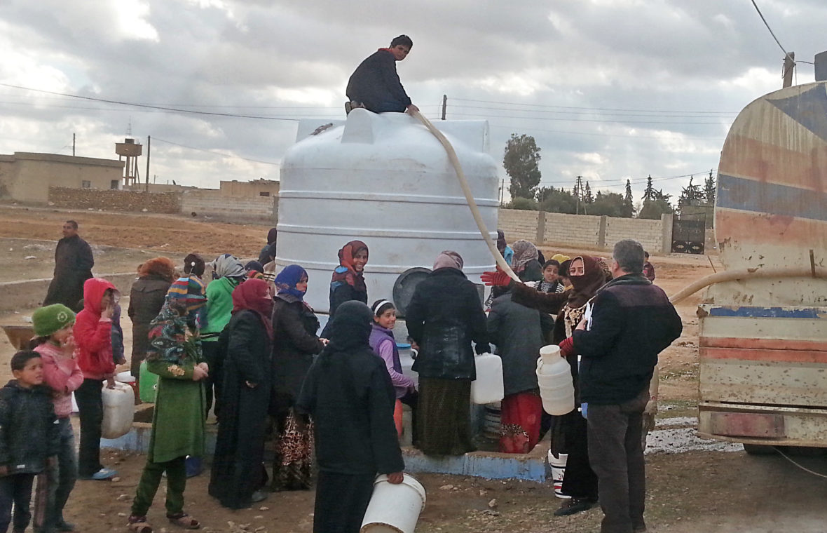 Clean water truck in Syria
