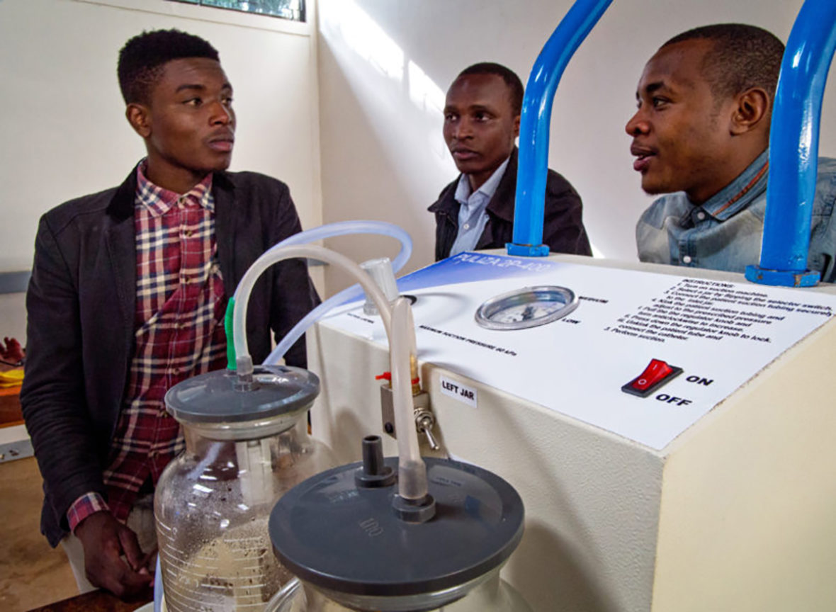 A suction machine created by engineering students at the University of Nairobi