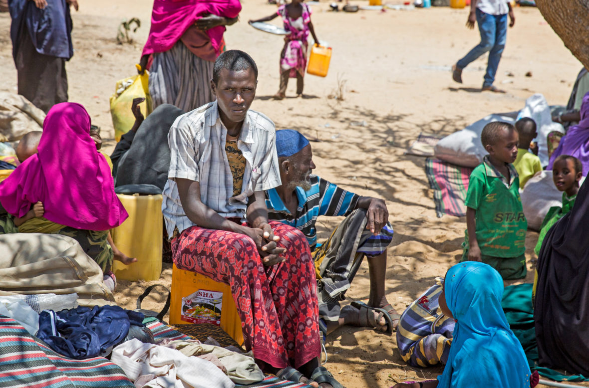 Somali people displaced by hunger