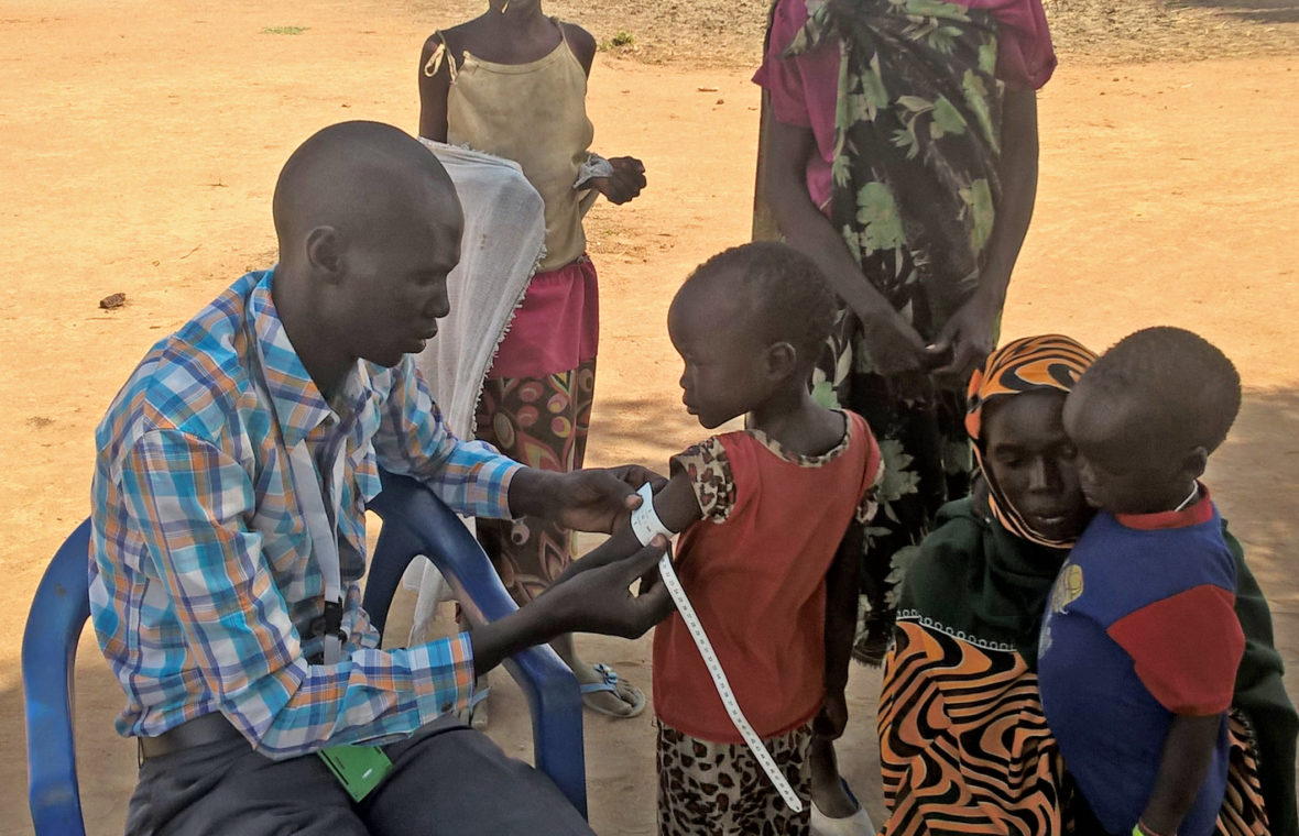 Nutrition screening in South Sudan