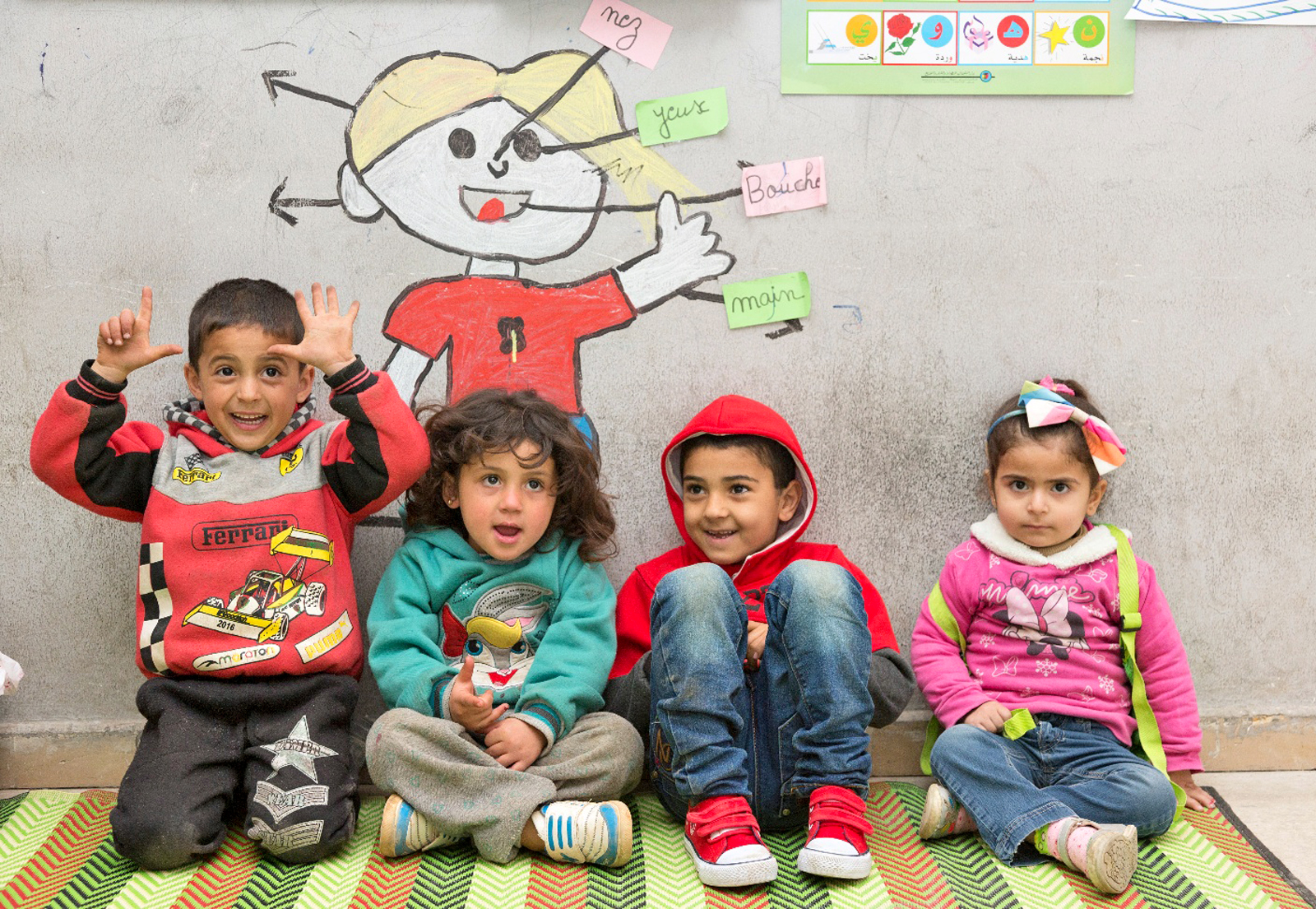 refugee children at school in Lebanon