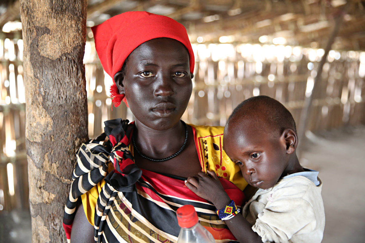 Mom and baby in Unity State, South Sudan