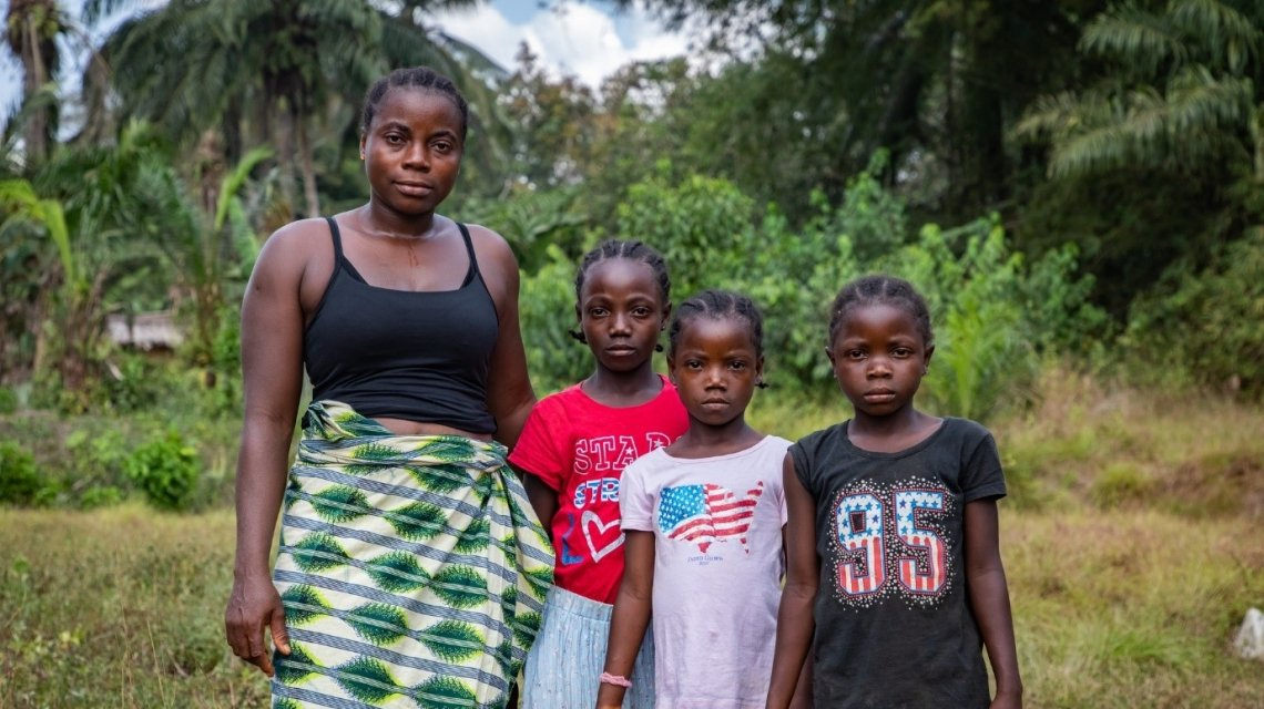 Liberian woman and her three daughters