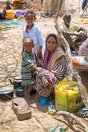 Displaced family in Somalia