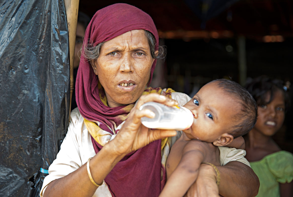 Baby and grandmother in Bangladesh