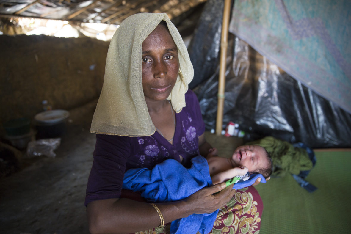 Shaju (not her real name) (30) with her day-old daughter, Noor