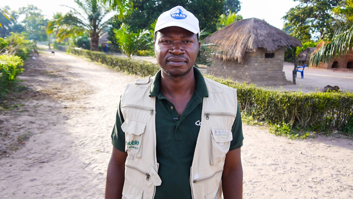 Felix Kabemba, Concern's project manager in DRC