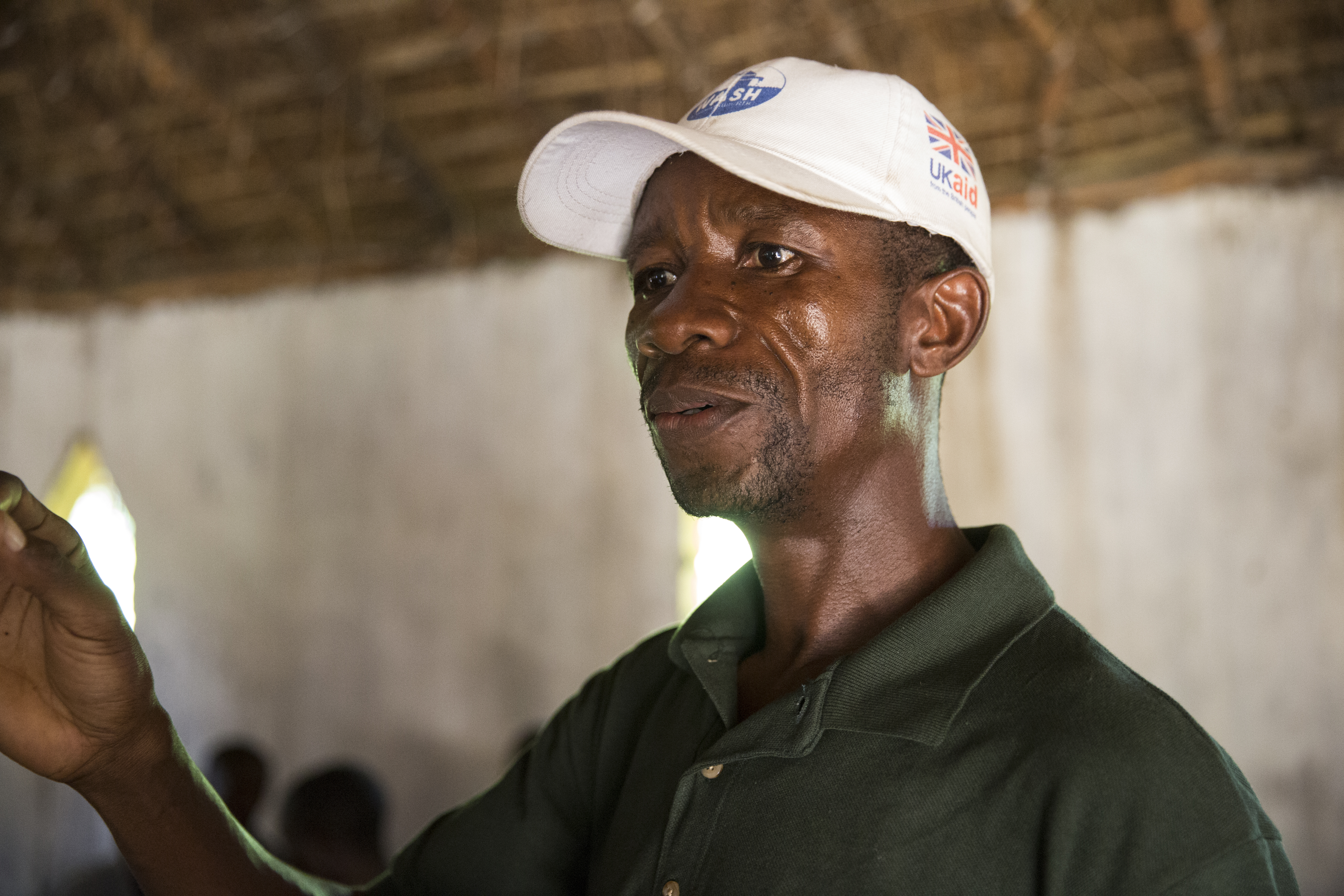 Albert Mukalay, a Concern Hygiene Promoter in DRC