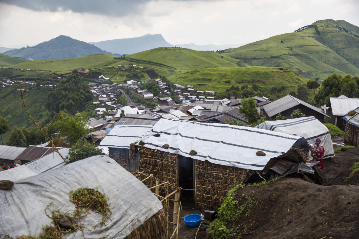 Homes with tarpaulin roofs