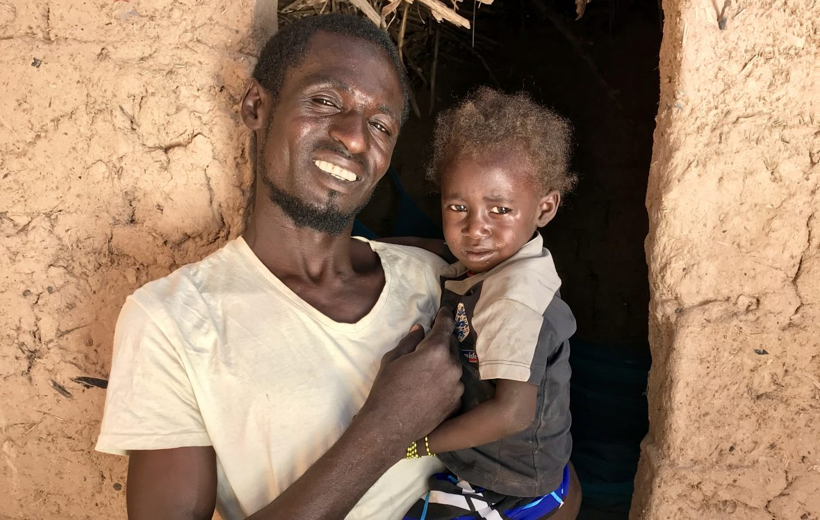 Nigerien father with his young daughter