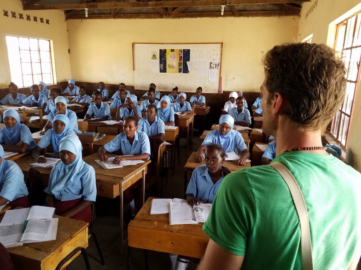 Photographer Alexi Lubomirski visits a girls school in Marsabit County, Kenya