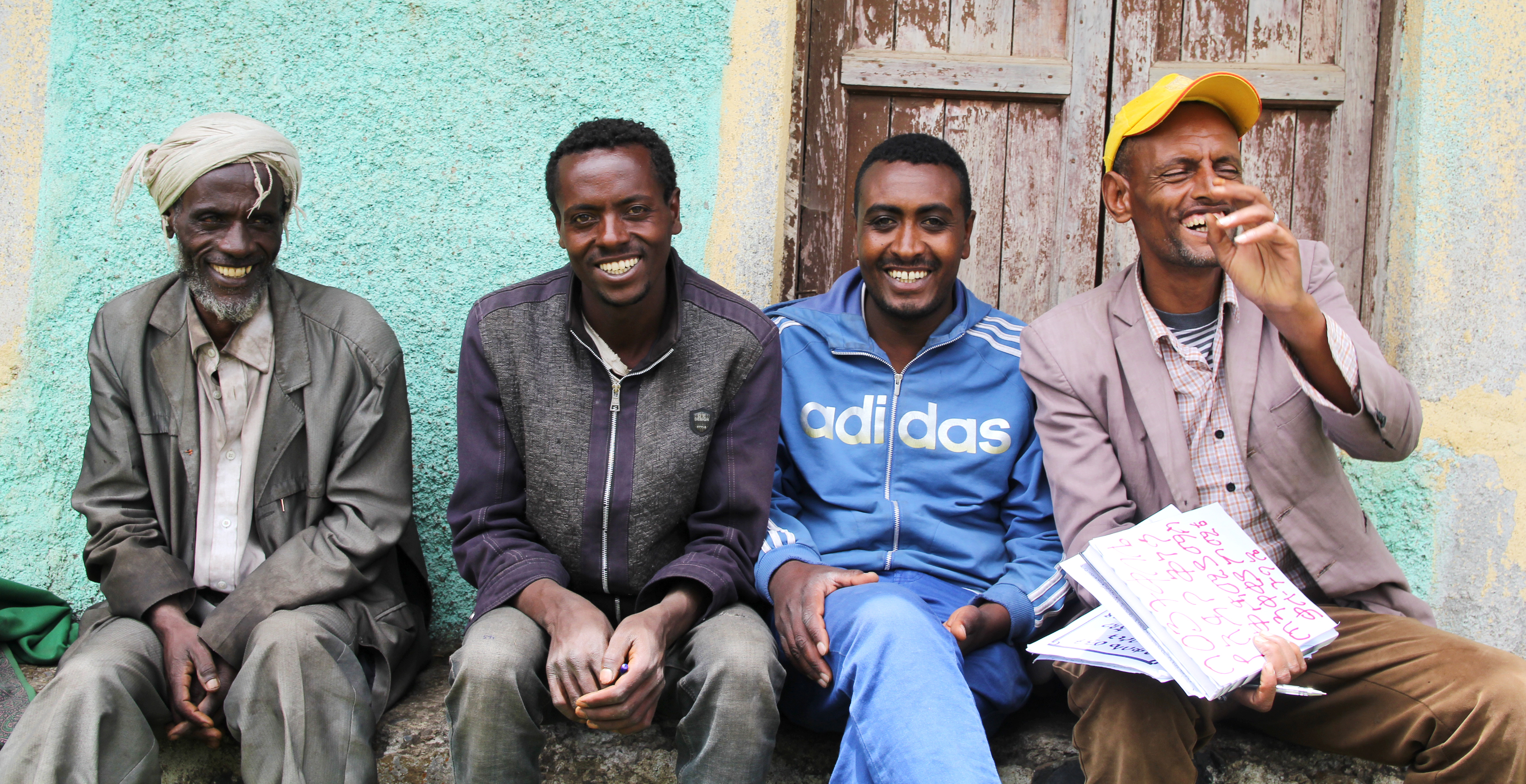 Ethiopian men on a bench