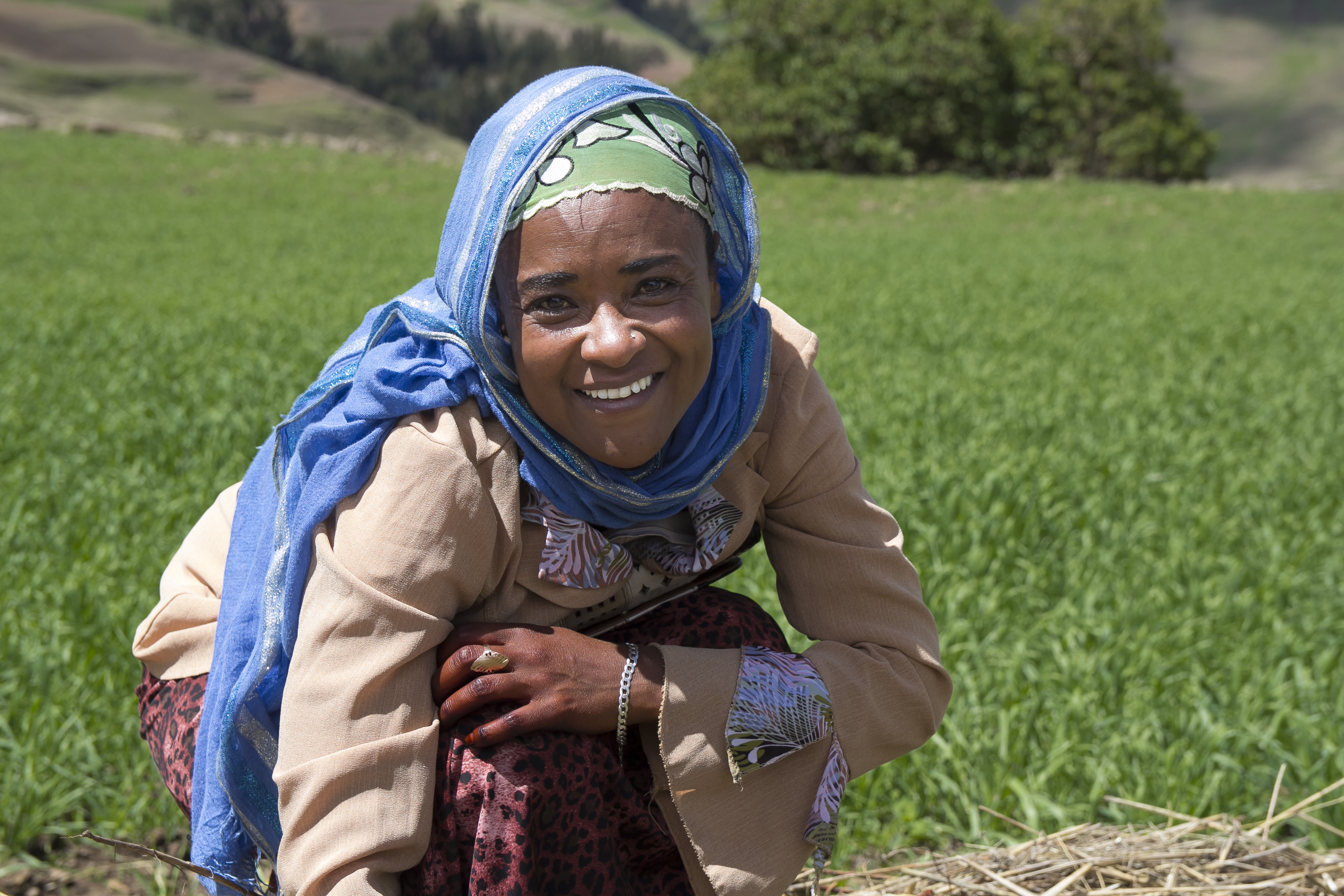 Ethiopian woman in field