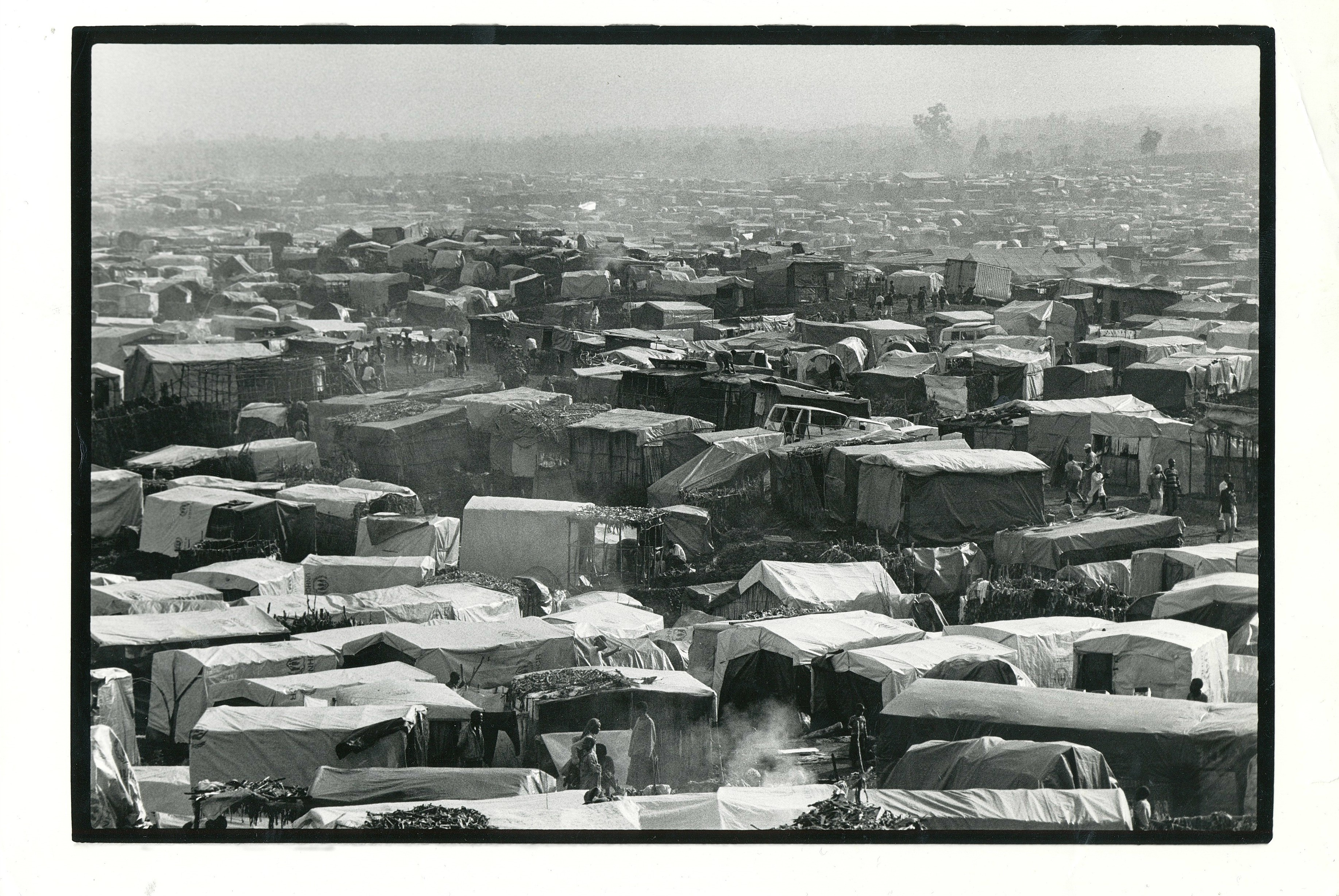 Tents at Katale camp in Zaire