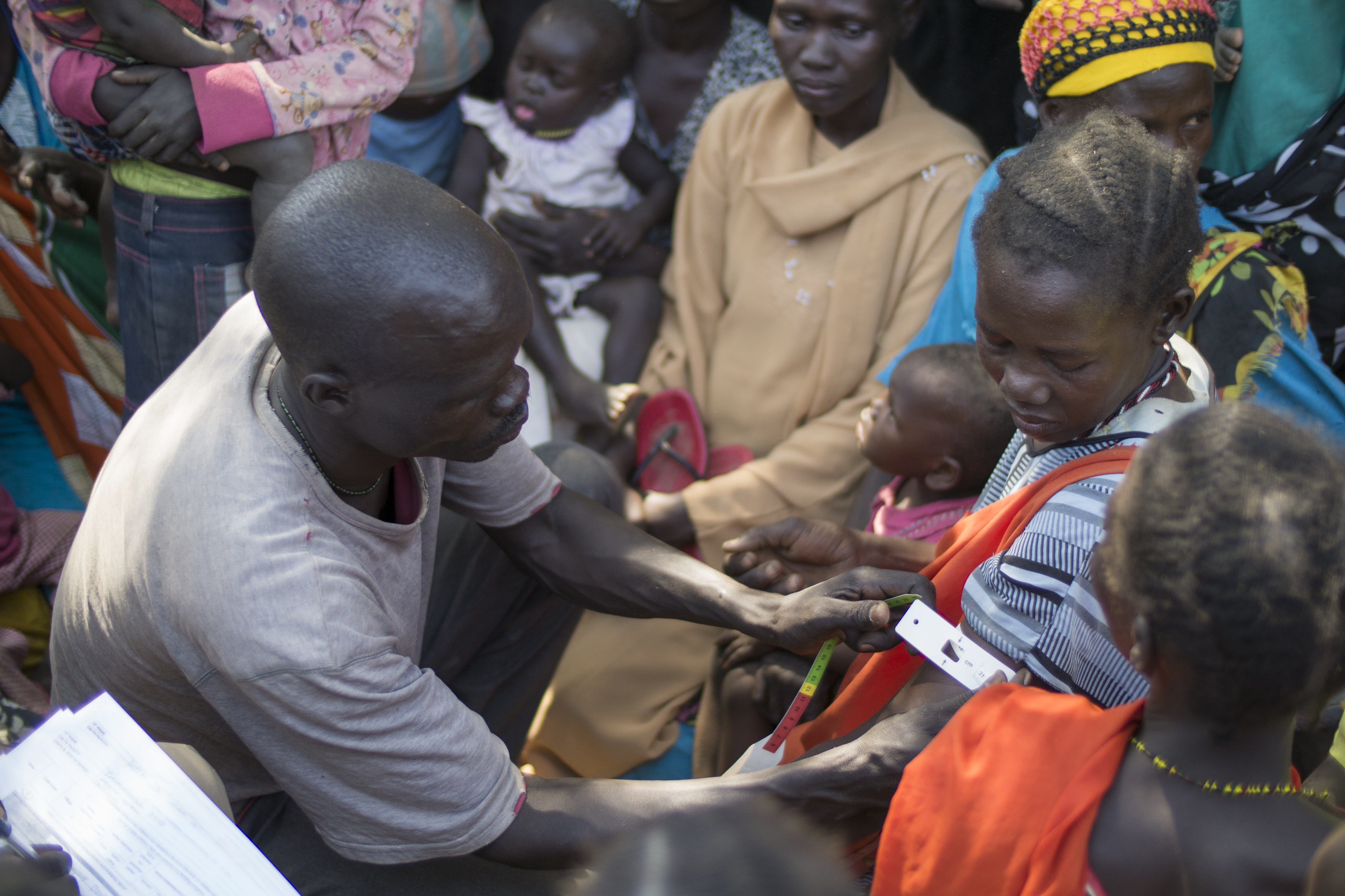 A mass nutrition screening of pregnant women in South Sudan