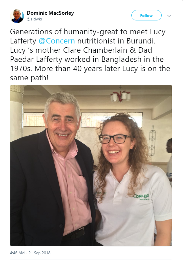 Dominic MacSorely and Lucy Lafferty