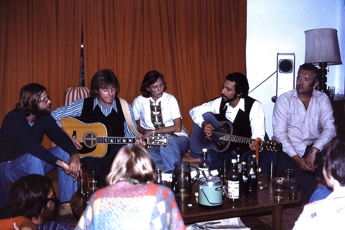 Cat Stevens and Alun Davies with Concern team members in Bangladesh.
