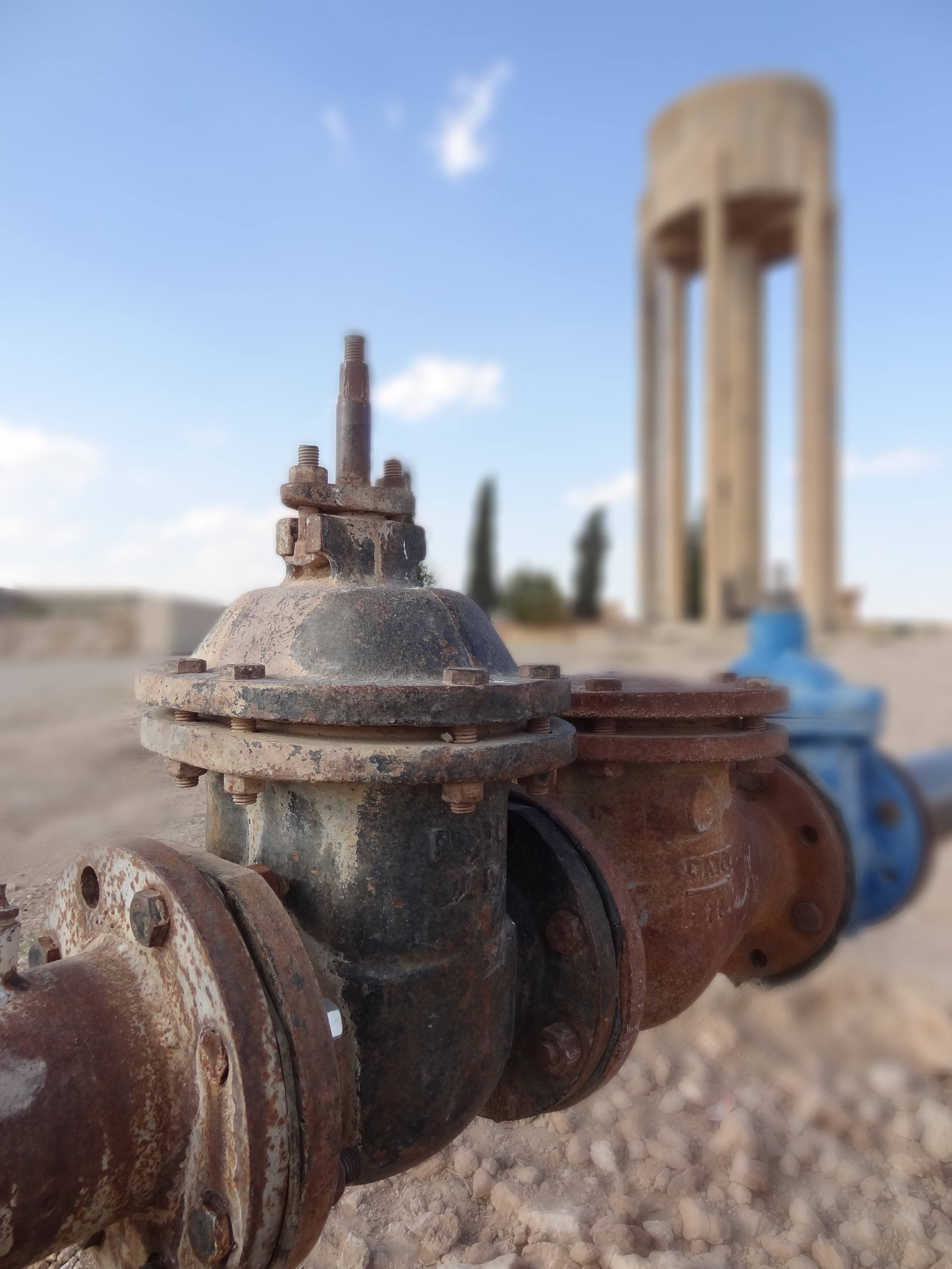 A water pump and tower in Syria