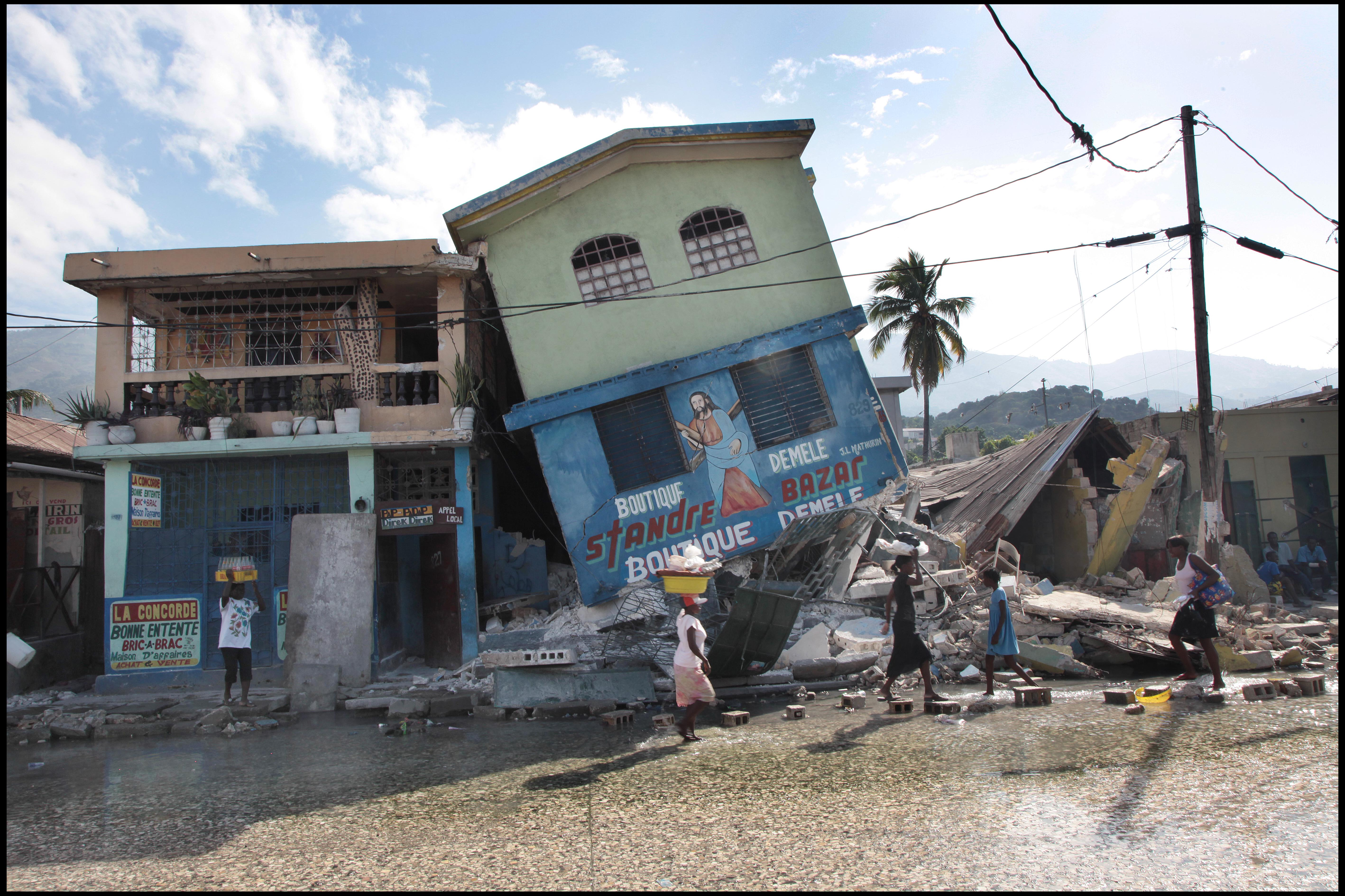 A ruined building in Port au Prince