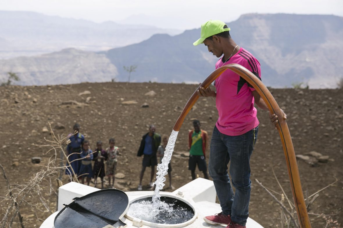Water being delivered to a community in Northern Ethiopia where rain had not fallen in any appreciable quantity for 3 years.
