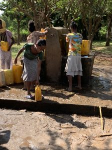 Yellow cans for carrying water in Concern Worldwide Ethiopia 2018 Trip