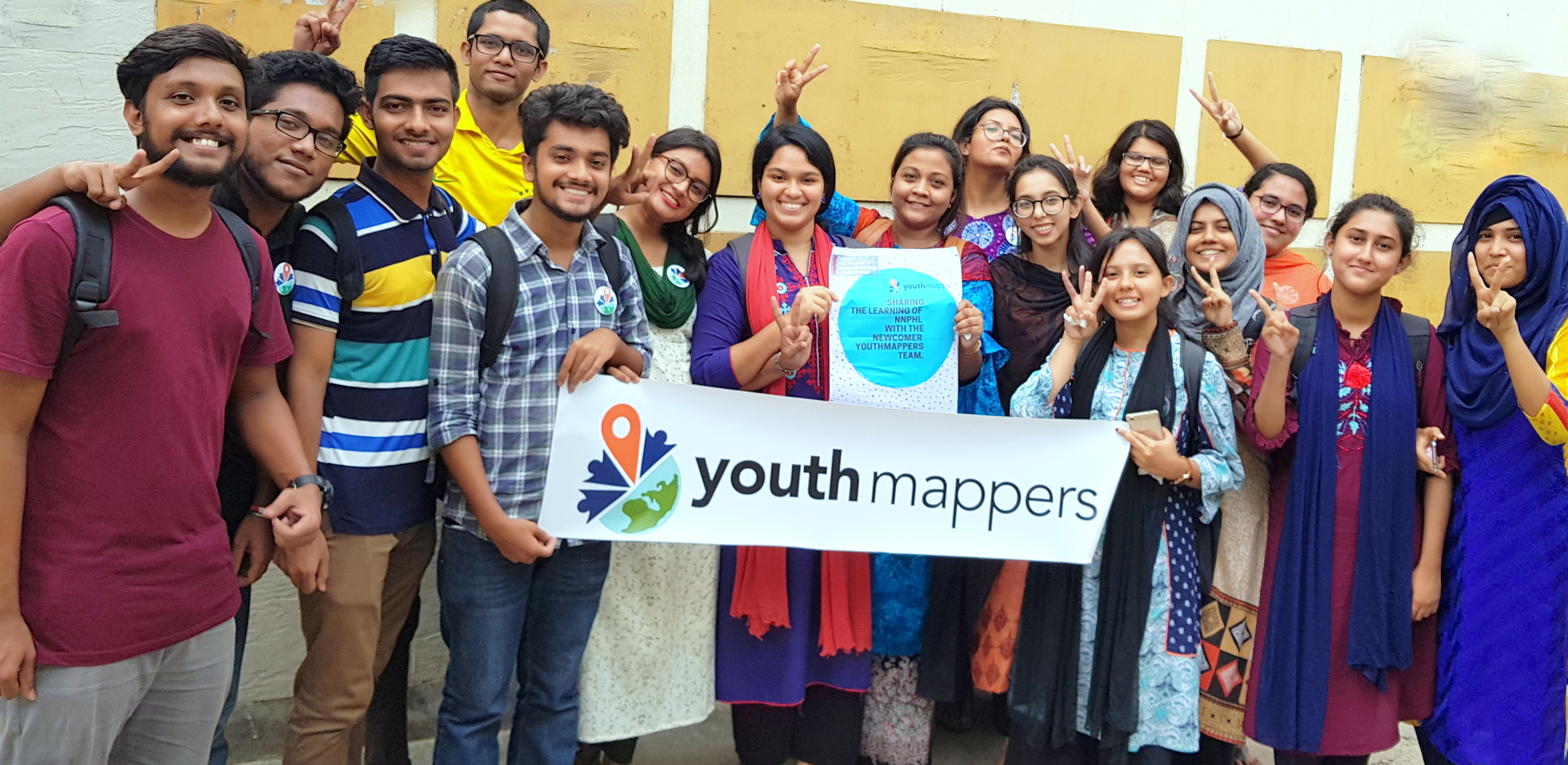 Members of the YouthMappers chapter in Dhaka, Bangladesh