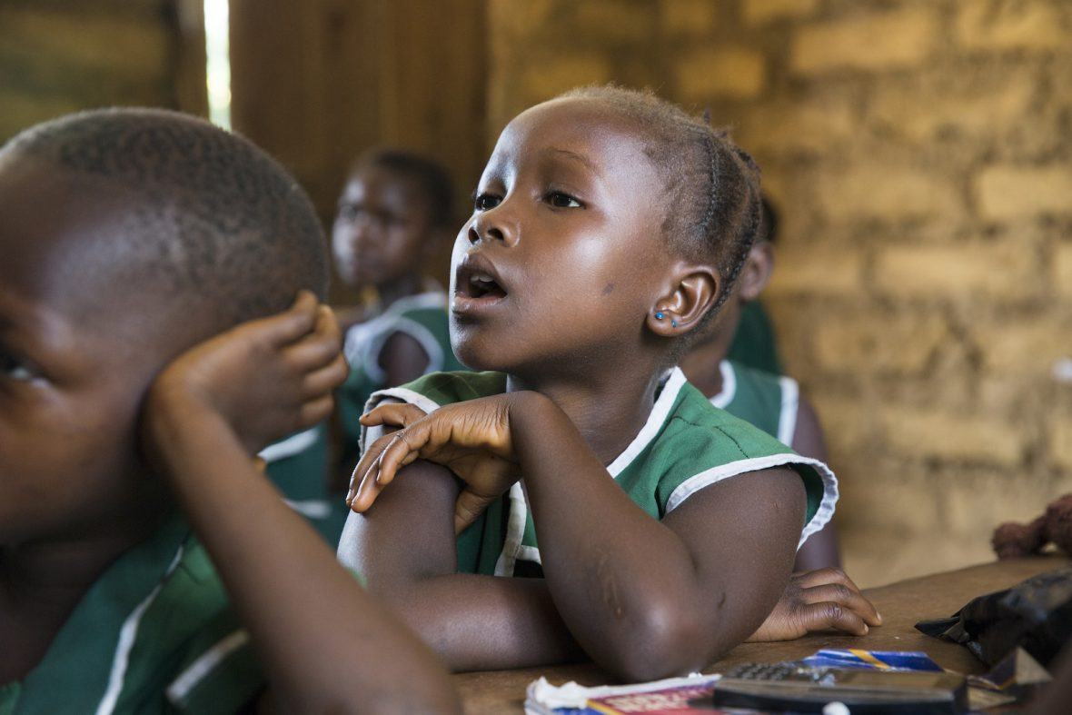 Students in a classroom in Sierra Leone