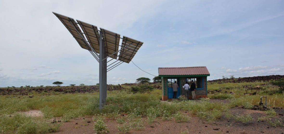 A solar powered water point in Marsabit, Northern Kenya.