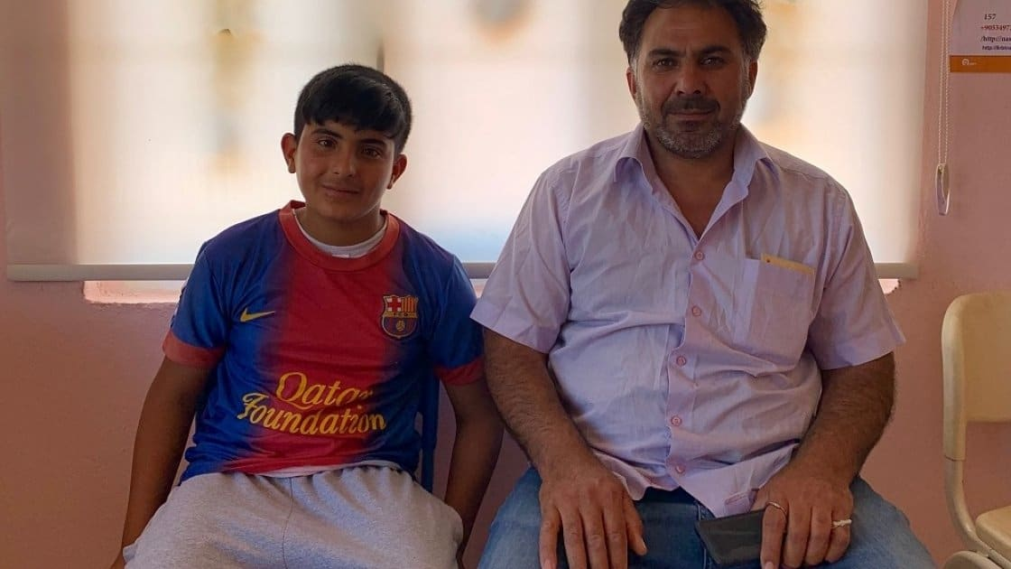 Hassan and his son Fadi