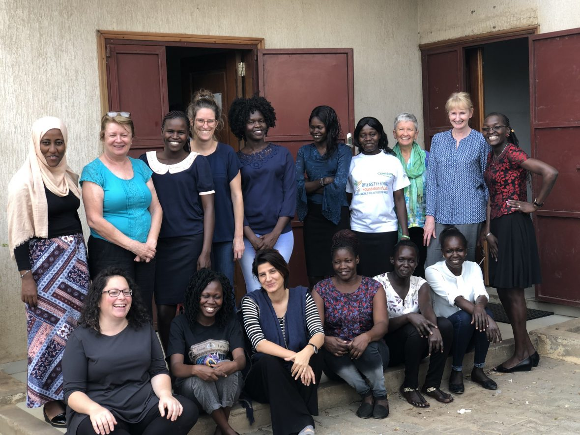 A group of Concern Worldwide workers in South Sudan
